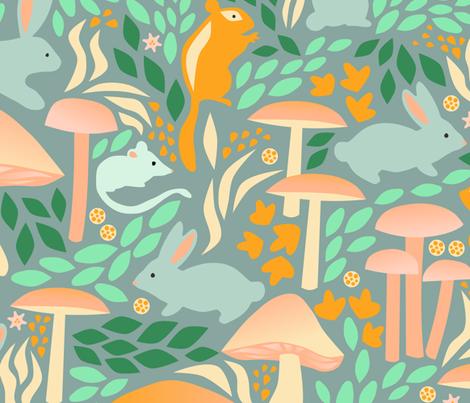 Woodland Creatures fabric by amy_maccready on Spoonflower - custom fabric
