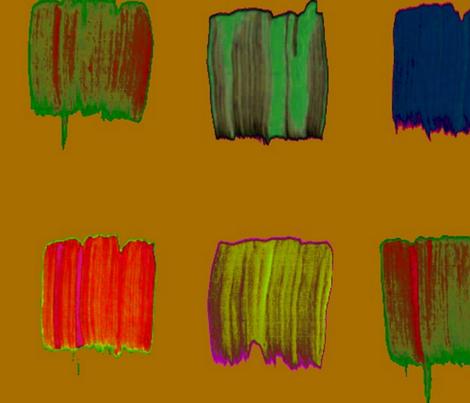 rainbow brush strokes fabric by farreystudio on Spoonflower - custom fabric