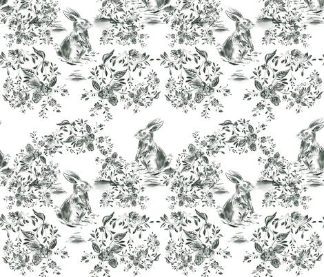 Lullaby Bunnie fabric by nancynoreth on Spoonflower - custom fabric