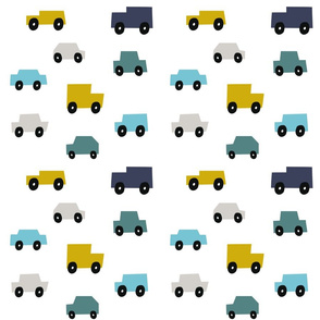 Cars traffic vehicles boys kids wheels pattern