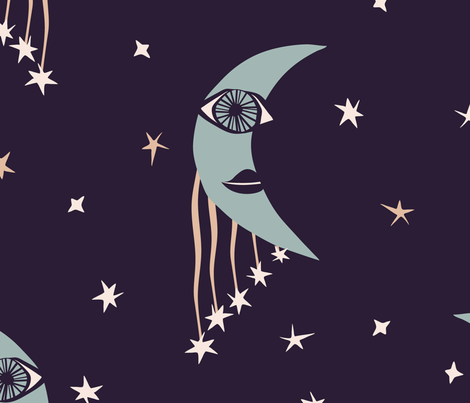 Moonlight  fabric by dk_ryland on Spoonflower - custom fabric