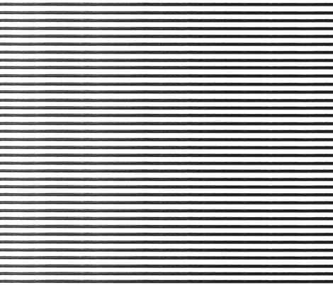 Breton Grunge Stripe Black on White fabric by trulymix on Spoonflower - custom fabric