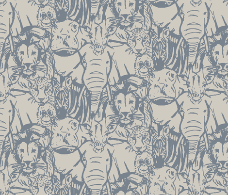 Into the Wild fabric by rose_and_stone on Spoonflower - custom fabric