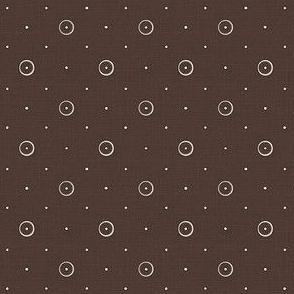 Brown Mini Print   -Quilt Print