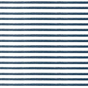 Breton Grunge Stripe Navy Blue on White