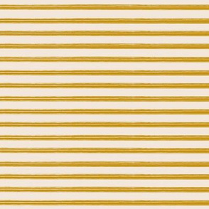 Breton Grunge Stripe Mustard on Ecru