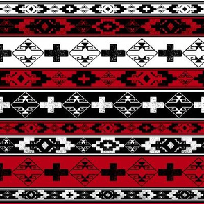 Western American Indian Blanket red