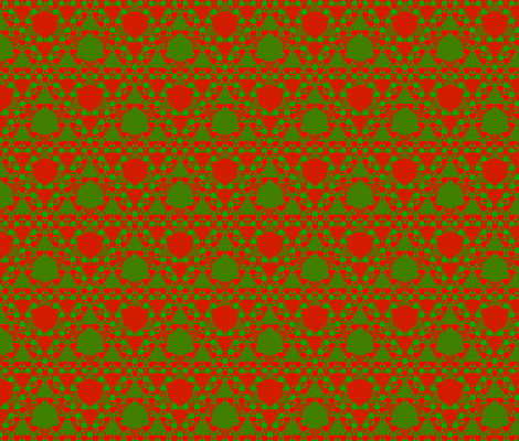 Red Green Triangle Circle fabric by p__d__frasure on Spoonflower - custom fabric