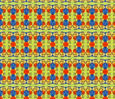 Le bonhomme fabric by michisco_creations on Spoonflower - custom fabric