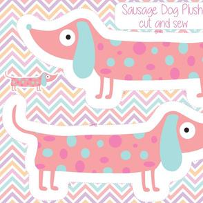 Sausage Dog Plushie, wiener dog toy, dachshund pillow plush