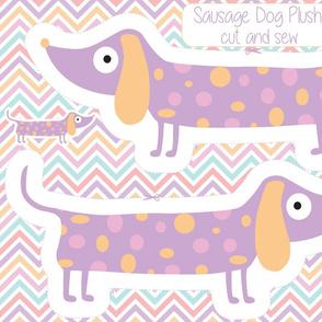 Sausage Dog Plushie, Wiener dog toy, Dachshund pillow toy