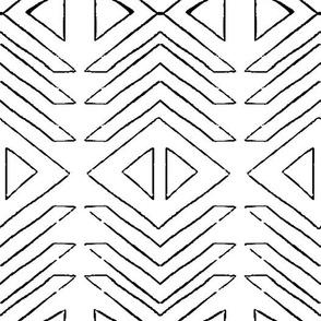 Geometric arrows in Black