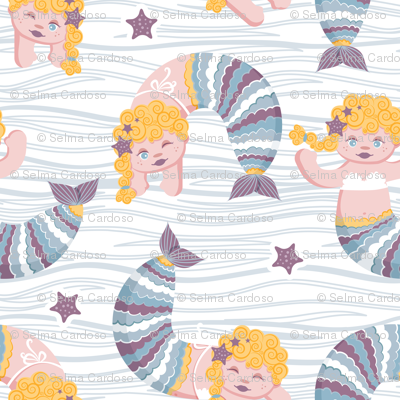 Mermaid waves // yellow blond hair