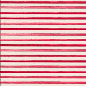 Breton Grunge Stripe Red on Ecru