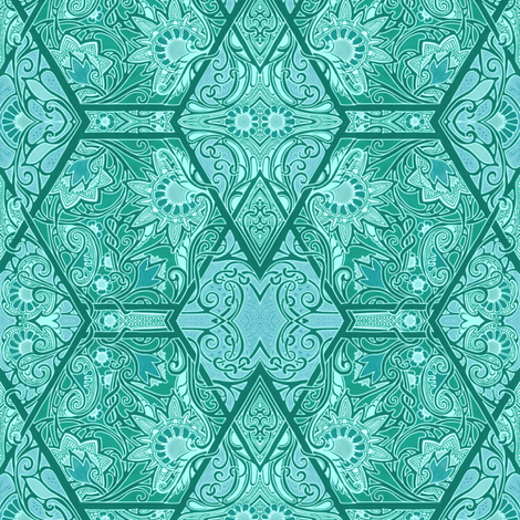 Parquet Gone Swimming fabric by edsel2084 on Spoonflower - custom fabric