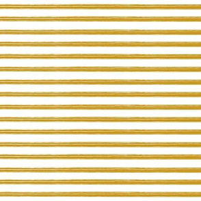 Breton Grunge Stripe Mustard on White