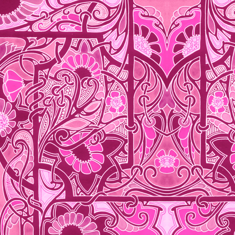 Hot Pink Worlds fabric by edsel2084 on Spoonflower - custom fabric