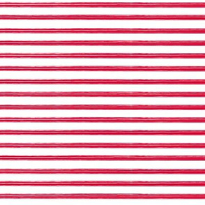 Breton Grunge Stripe Red on White