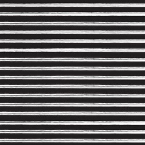 Breton Grunge Stripe White on Black