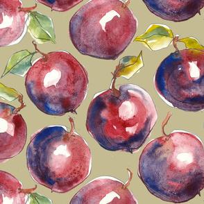 Big Juicy plums - taupe
