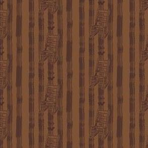 Rocking Chair Stripe in Tone-on-Tone Coffee