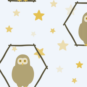 large scale owl wallpaper