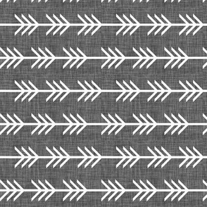 charcoal linen arrow stripes // rotated