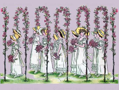 Procession on Lavender Ice | Large-Scale Spring Illustration
