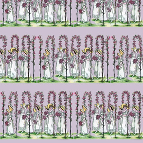 Procession on Lavender Ice | Large-Scale Spring Illustration
