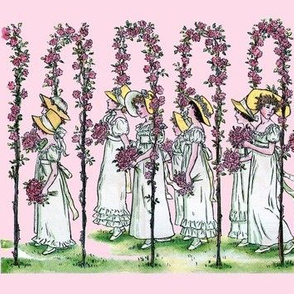 Procession on Petal, Large-Scale | Pink Morning