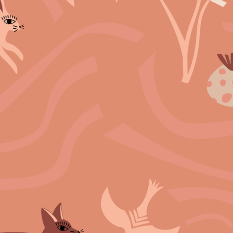 Pink Desert Sands fabric by dk_ryland on Spoonflower - custom fabric