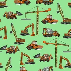 construction equipment green