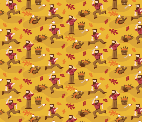 Thanksgiving Day Cycle fabric by dupontdesigns on Spoonflower - custom fabric