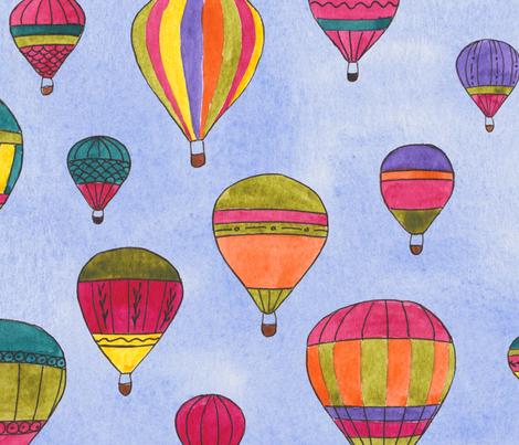 Balloons fiesta fabric by motionsense on Spoonflower - custom fabric
