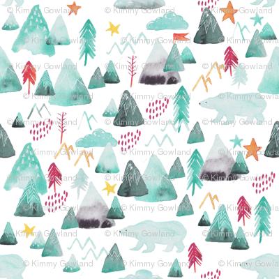 Mountains and polar bears nursery