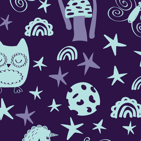 Mystic Unicorns fabric by dk_ryland on Spoonflower - custom fabric