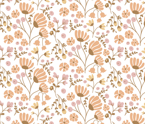 Simple November Floral Dress Design Wallpaper