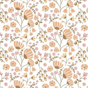 Simple November Floral Dress design