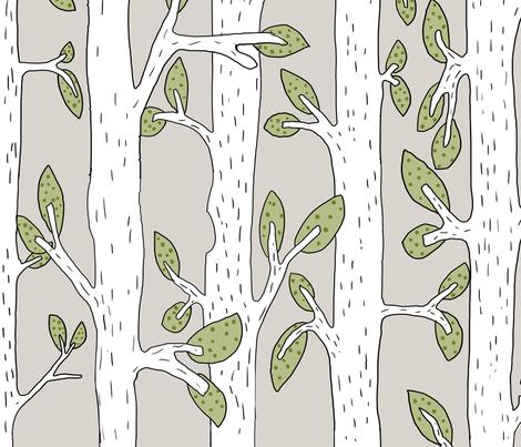 Nursery Forest fabric by jennifergeldard on Spoonflower - custom fabric