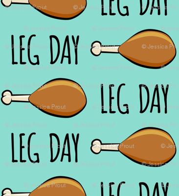 """(3/4"""" scale) turkey legs - Leg day - dark aqua C18BS"""