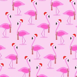 Christmas Flamingos - Pink
