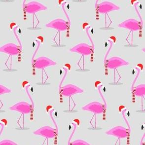Christmas Flamingos - Grey