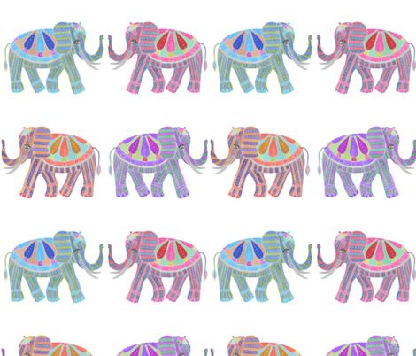 tusk elephants fabric by margiecampbellsamuels on Spoonflower - custom fabric
