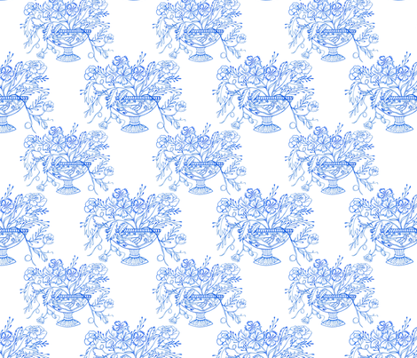 chinoiserie vase 1000 repeat fabric by margiecampbellsamuels on Spoonflower - custom fabric