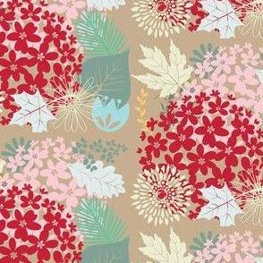 Floral Beige