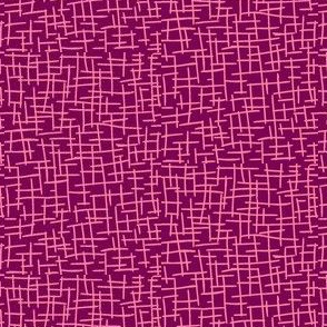 Sketchy Mesh of Rosy Pink on Ripe Plum -