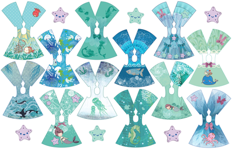 Ocean Collection 14 inch doll dresses fabric by dollproject on Spoonflower - custom fabric