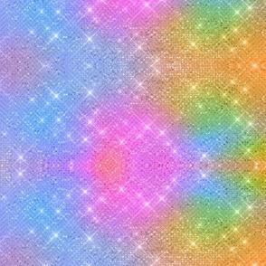 Glitzy Rainbow Stars  Unicorn coordinate