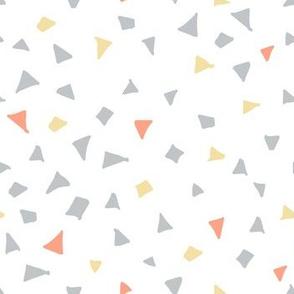 Woodlands terrazzo triangles white