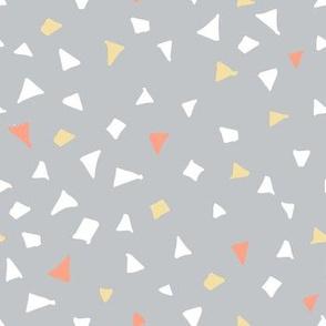 Woodlands terrazzo triangles grey